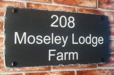 Large ML Rustic Rectangular House Sign – 460mm x 240mm; 18.1 inches x 9.5 inches